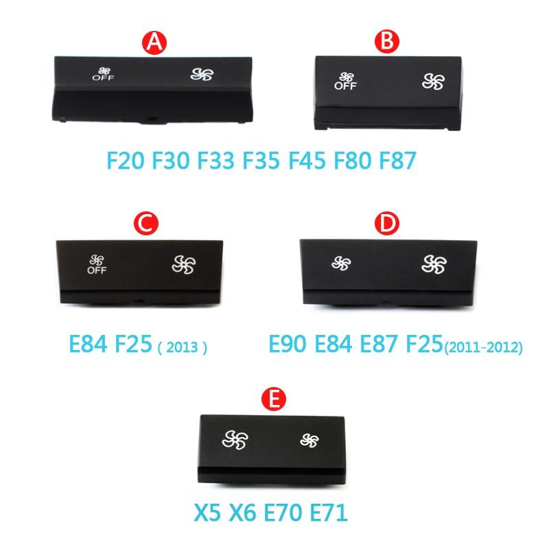 Dashboard Air Conditioner Fan Wind Volume Button Capes For BMW 1 2 3 4 X1 X3 X5 X6 Series F20 F30 F35 F80 F25 F26 E70 E84 E90
