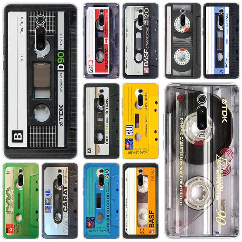 Classico Vecchio nastro A Cassetta Del Silicone di Caso Per Xiao mi mi nota 10 9T CC9 E 9 Pro A3 Lite gioco Rosso mi nota 8T 8 8A 6 Pro 6A 4X COPERTURA