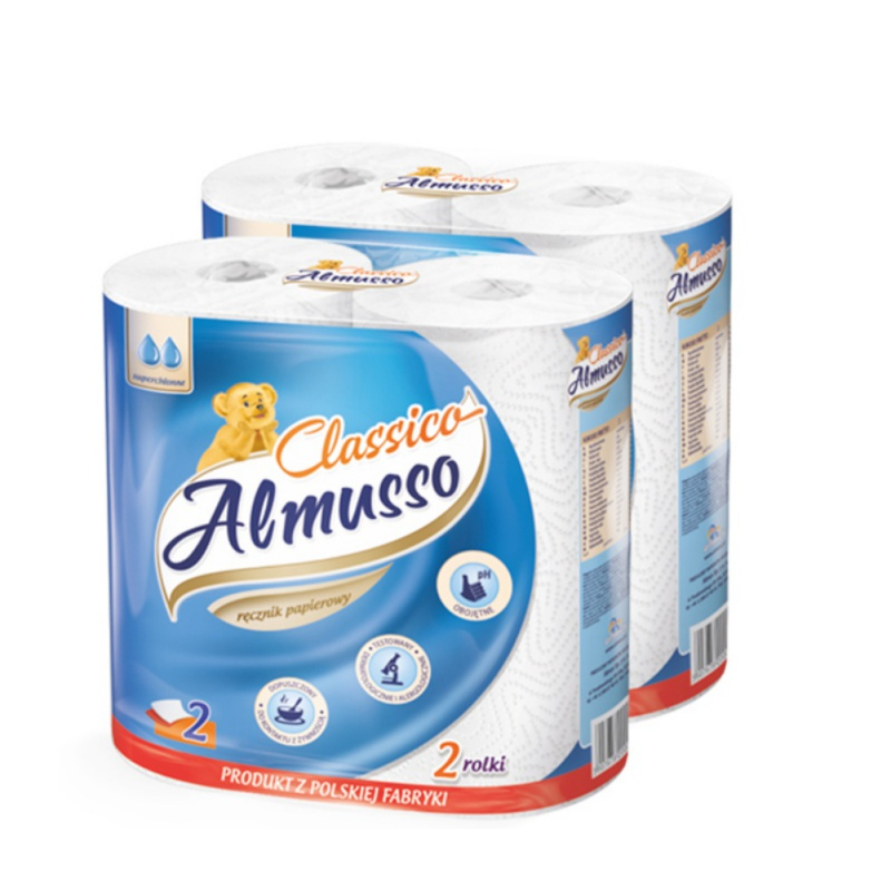 White Signature Cloth Paper Towels Soft & Strong Kitchen Paper Towels 2 Packs Family Rolls (1 Roll Has About 50 Knots)