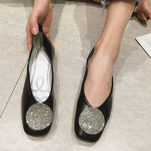 Image 3 - Women Shoes Fashion Crystal Womens Flats Shoes 2020 Spring Autumn Ladies Footwear Females Slip On Shallow Ballet Single Shoes