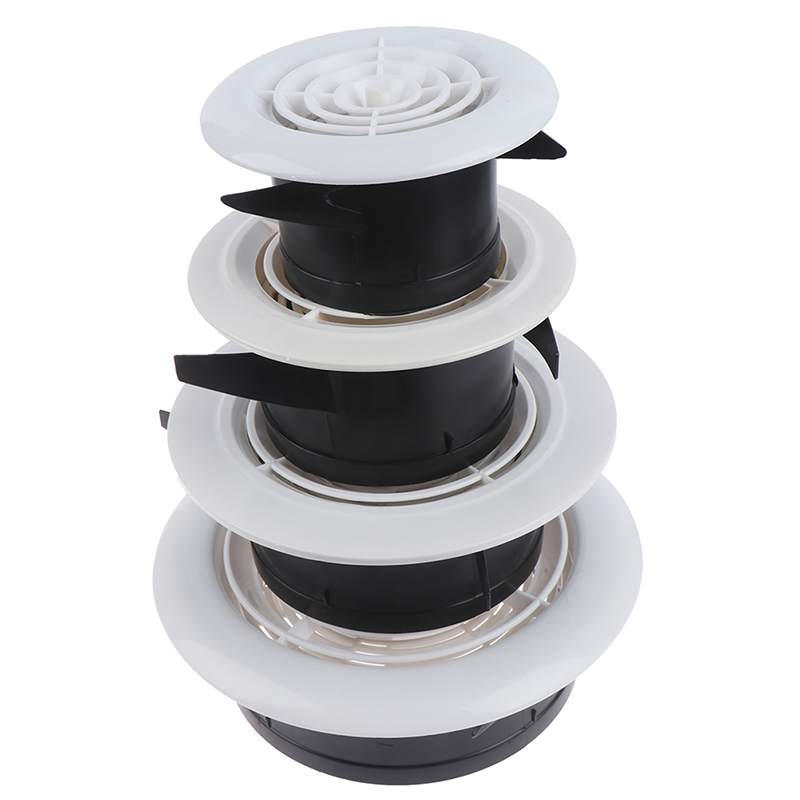 3~8 ''Adjustable Ventilation Grilles Grid Air Vent Round Louver Grille Cover