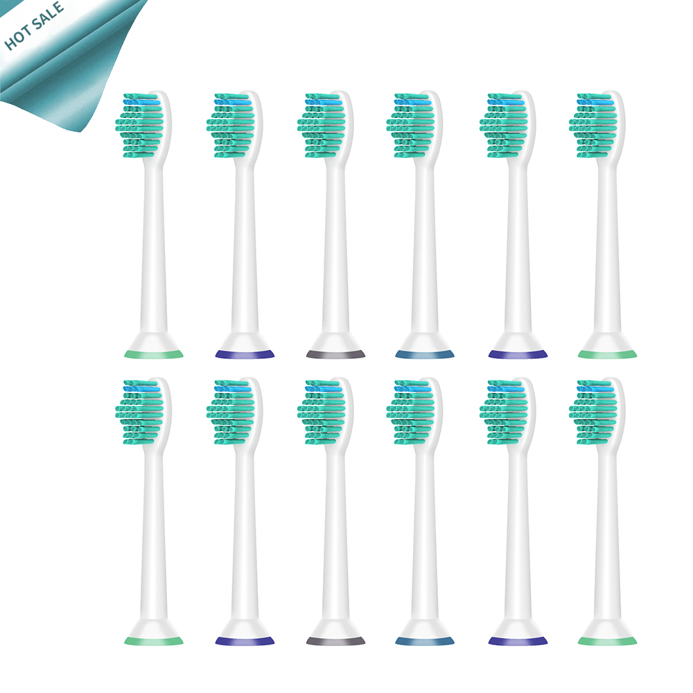 12pcs/lot Replacement Toothbrush Heads For Philips Sonicare ProResults HX6013/66 HX6530  HX9340 HX6930 HX6950 HX6710 HX9140