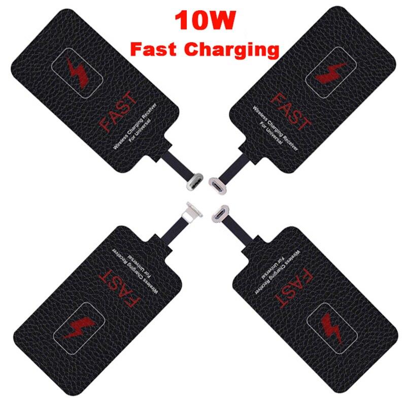 Приемник беспроводного зарядного устройства, 5 В/2 А, 10 Вт, для Xiaomi, Samsung, Huawei, iPhone 6, 7 Plus, Type-C, универсальный, Qi