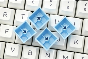 Image 5 - SA Juego de teclas de teñido de perfil, crayón de plástico, tiza para teclado mecánico, blanco, azul, naranja, gh60, xd64, xd84, xd96, 87, 104