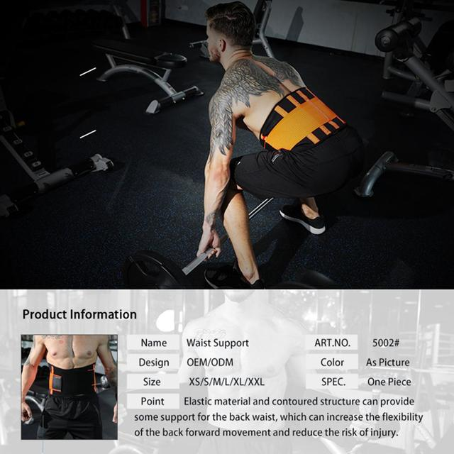 WeightLifting Waist Belt Guard Sports Equipment Belt Sweat Squat Strength Support Fitness Adjustable 3