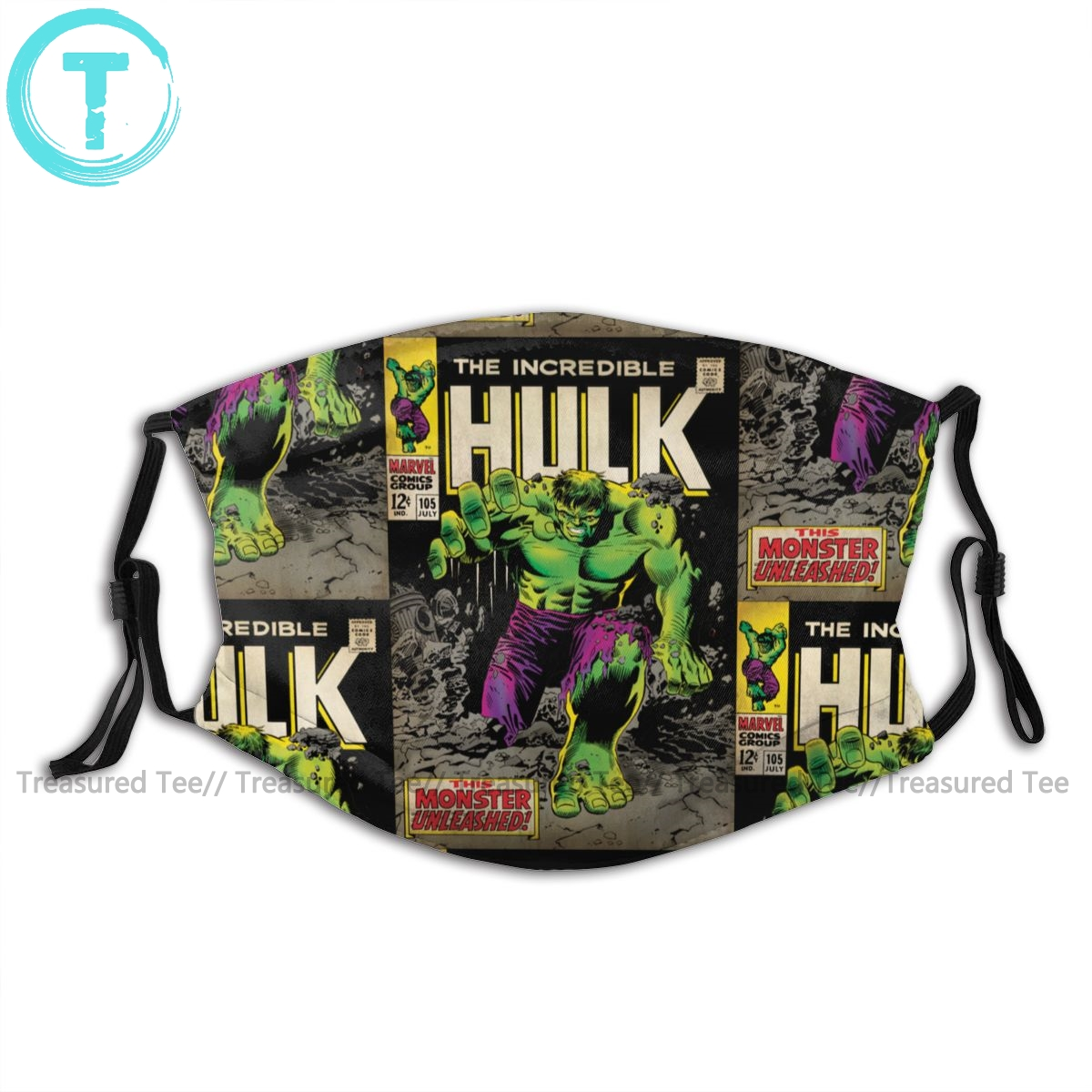 Hulk Mouth Face Mask The Incredible Hulk Comic Facial Mask Funny Fashion With 2 Filters For Adult