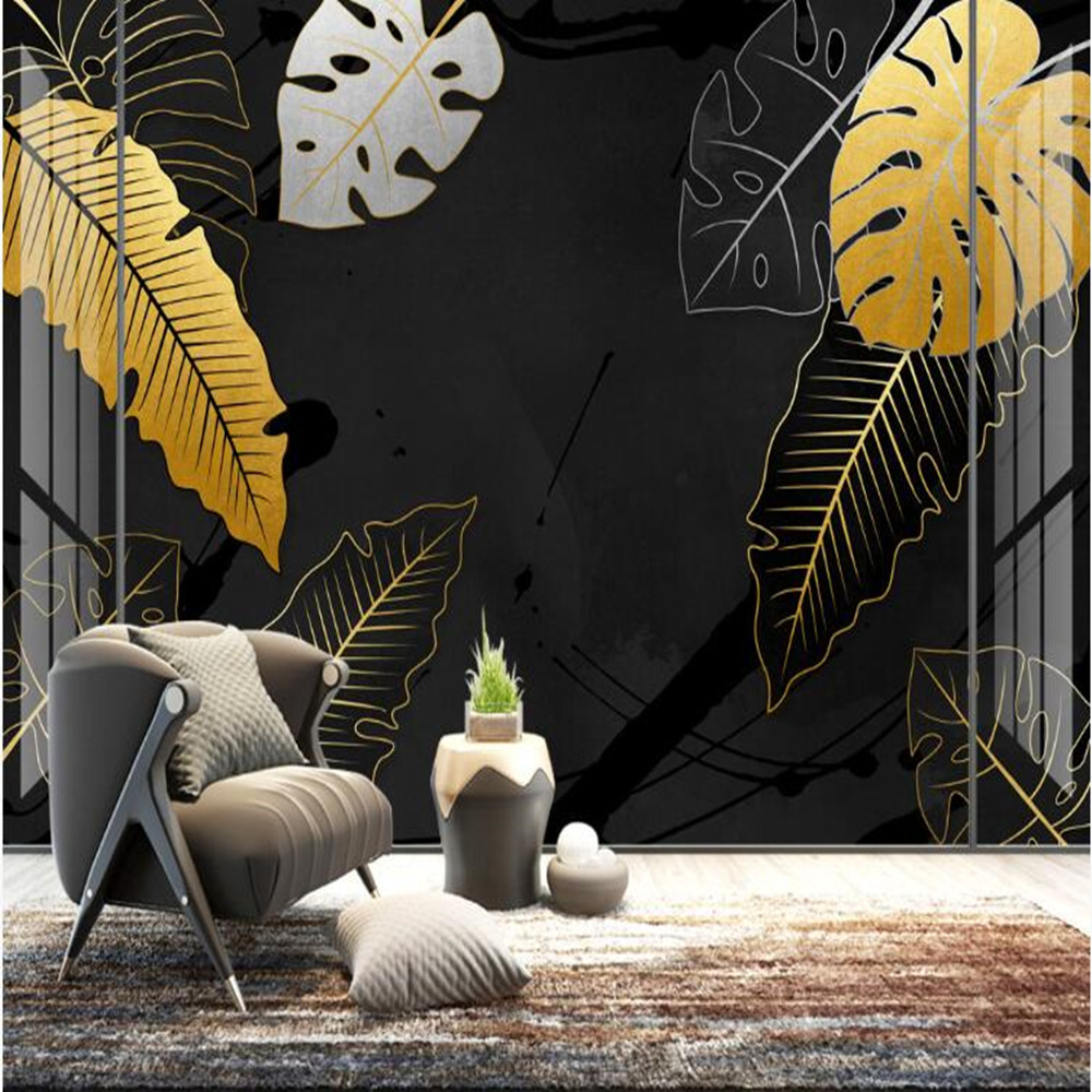 Milofi Custom 3D Hand-painted Modern Art Plant Large Background Wallpaper Mural