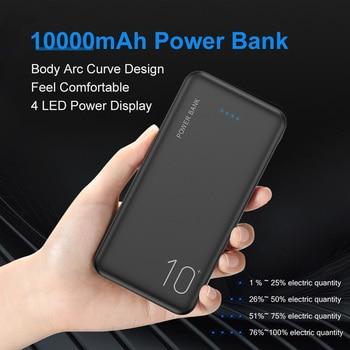 FLOVEME 10000mAh Power Bank Portable Charger Mobile Phone Digital Display External Battery Pack Dual USB Fast Charging Powerbank 1
