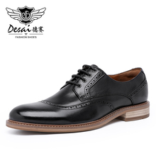 Desai Luxury Genuine Leather Men Formal Shoes Pointed Toe Top Quality Cow Leather Derby Men Dress Shoes Size