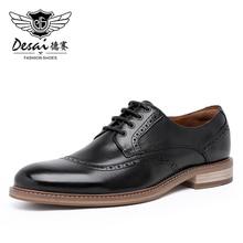 Desai zapatos de cuero genuino para hombre, calzado Formal de cuero de vaca de calidad, puntiagudas