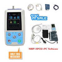 CONTEC PM50 Portable Blood Pressure NIBP/Spo2 Patient Monitor+Cuff+Probe NEW
