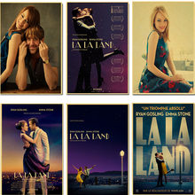 La La Land Retro Poster Vintage Poster Wall Decor Art Kraftpapier Muur Movie Posters Home Deco Appartement Decoratie