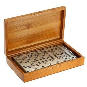 Image 4 - ダブル 6 ドミノセットエンターテイメントレクリエーション旅行ゲームブロック木造建築学習教育玩具ドットドミノ