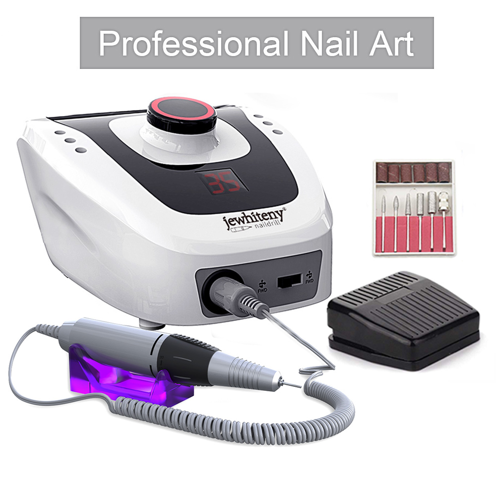 Professional Electric Nail Drill Machine 32W 35000RPM With Speed Display Screen High Quality Electric Nail File Manicure Cutter