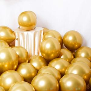 Image 2 - 128pcs Wholesale Gold Metallic Party Balloons 12 Inch Assorted Metal Chrome Alloy Latex Balloon for Birthday New Year Decoration