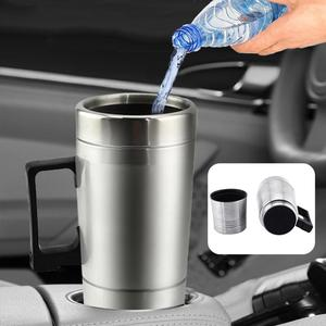 12/24V Stainless Steel Travel Car Heating Cup Hot Water Coffee Tea Thermal Mug 2019