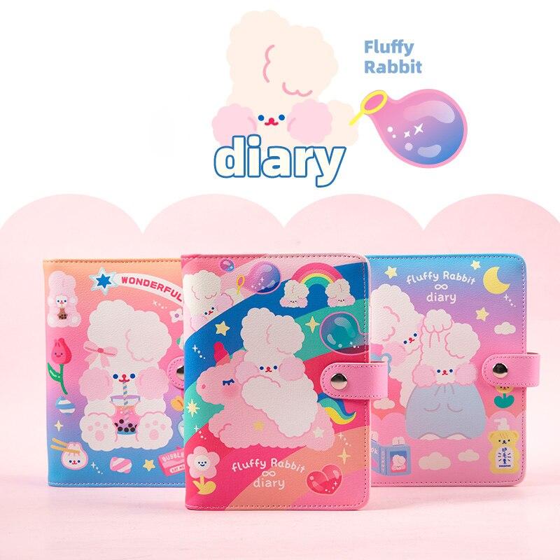 A6 Binder Notebook And Bullet Journal Diary Spiral Notepad 6 Rings Planner Organizer Cute Girls Note Book Korean Daily Handbook