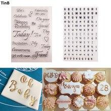 Инструмент для торта, буквенный алфавит, формочка для печенья, тиснение, штамп, липкое украшение, фламинго, Рождественский резак для помадки, инструменты для сахарного ремесла