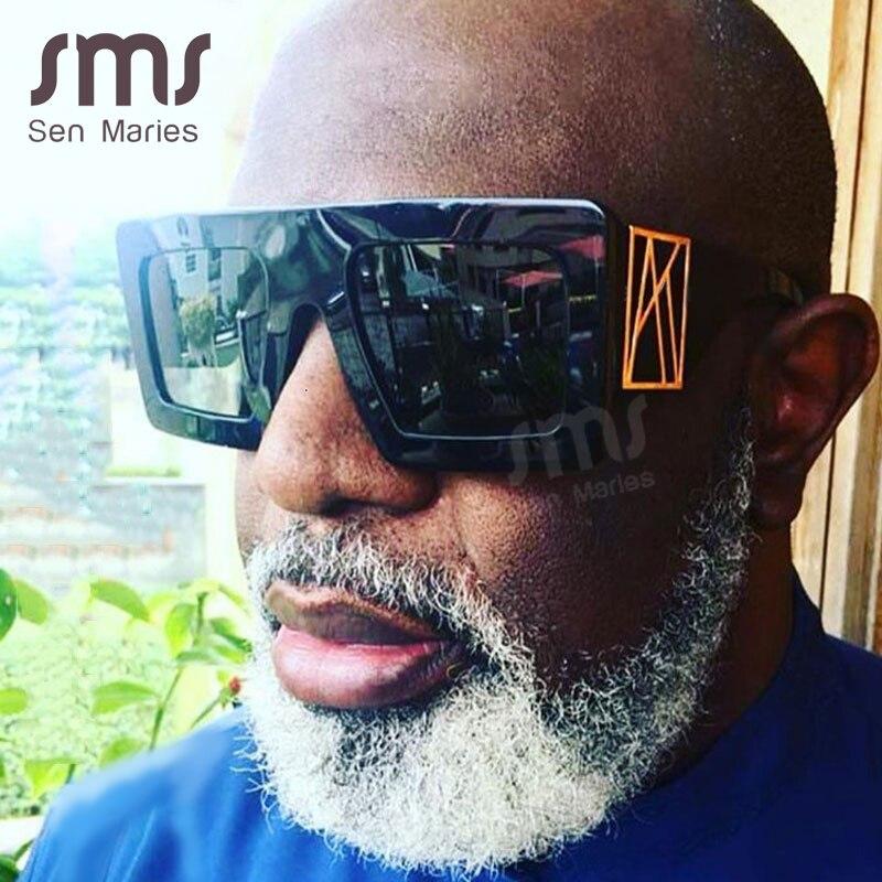 Vintage Oversized Square Sunglasses Men Women 2020 New Luxury Brand Unique Male Sunglasses Eyewear Leopard Frames Retro Glasses