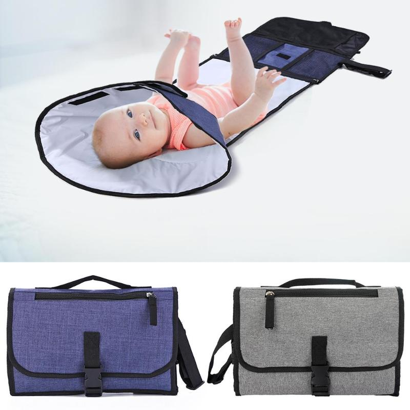 Baby Nappy Diaper Bag Changing Mat Waterproof Foldable Portable Handbag Play Pad