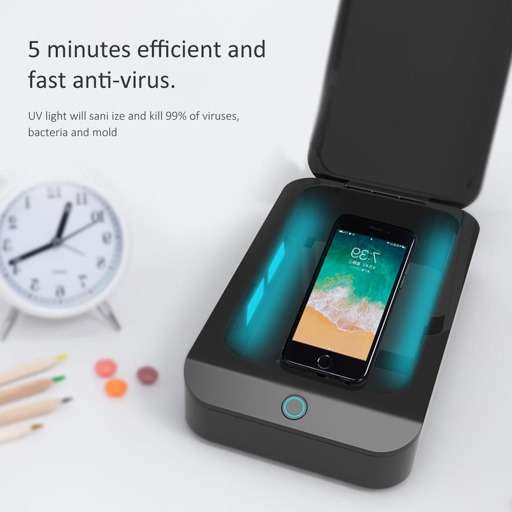 USB UV Sterilizer Box For Jewelry Phone Cleaner DC 5 V Sanitizer Disinfection Box Ultraviolet Light Household Cleaning