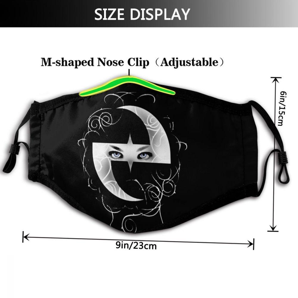 Evanescence boca máscara facial evanescence moda legal com 2 filtros para adulto