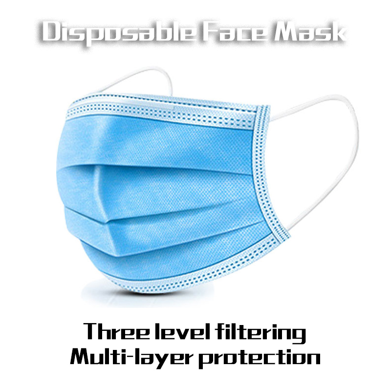 10 Pieces/Pack Disposable Professional Medical Anti Dust Healthy Carbon Face Mask 3 Layers Mouth Masks