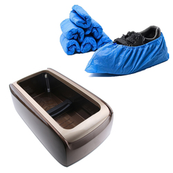 Automatic Shoe Cover Dispenser with 100pcs Overshoes for Home Office Sterile Lab Hospital Supply