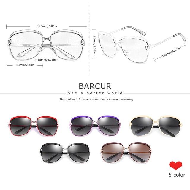 Polarized Sunglasses Women Gradient Lens  5