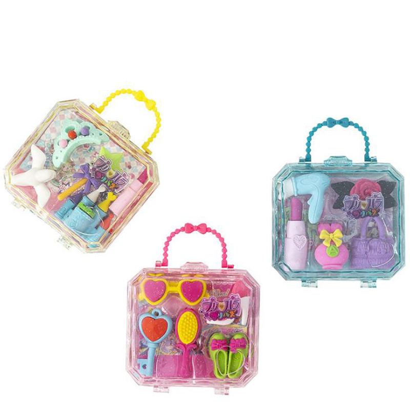 1 Pack Cartoon Castle Princess Series Cosmetic Makeup Tools Rubber Pencil Erasers School Kids Erasers Set Stationery Gifts