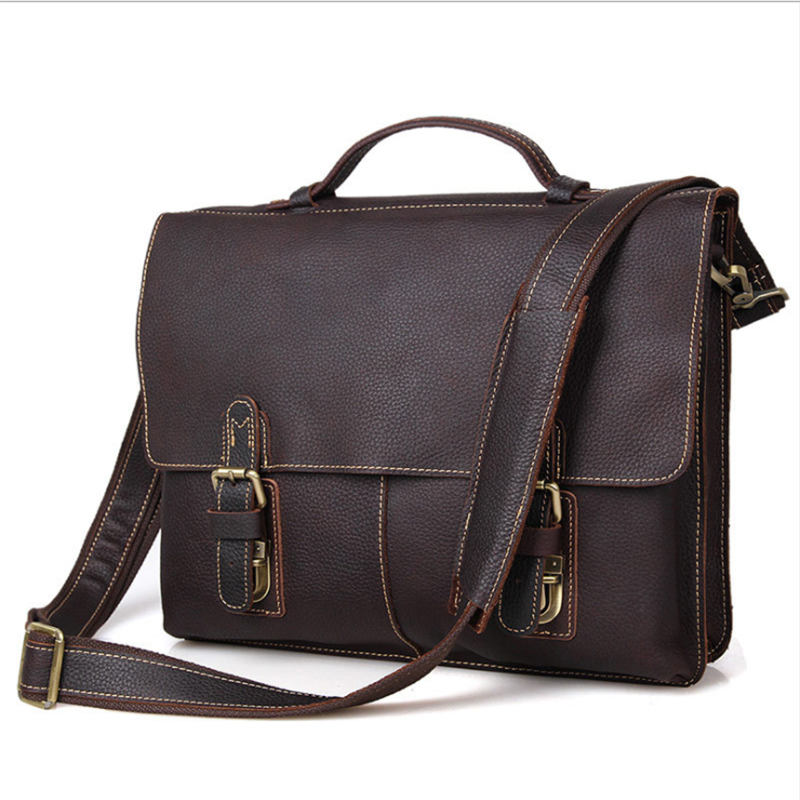 MAHEU Men's Crazy Horse Leather Briefcase For 15
