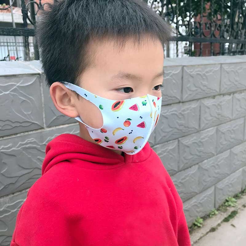 Kids Ice Silk Masks Cute Print Child Anti Haze Protection Masks Breathable Respirator Face Mask Washable Repeatable Mouth Mask