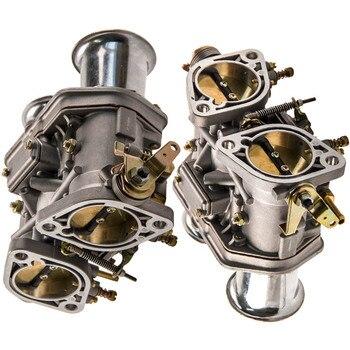 2x Carburador Carb IDF 48 Com Buzinas De Ar para Fiat para Porsche Ocioso 60 Dif 40