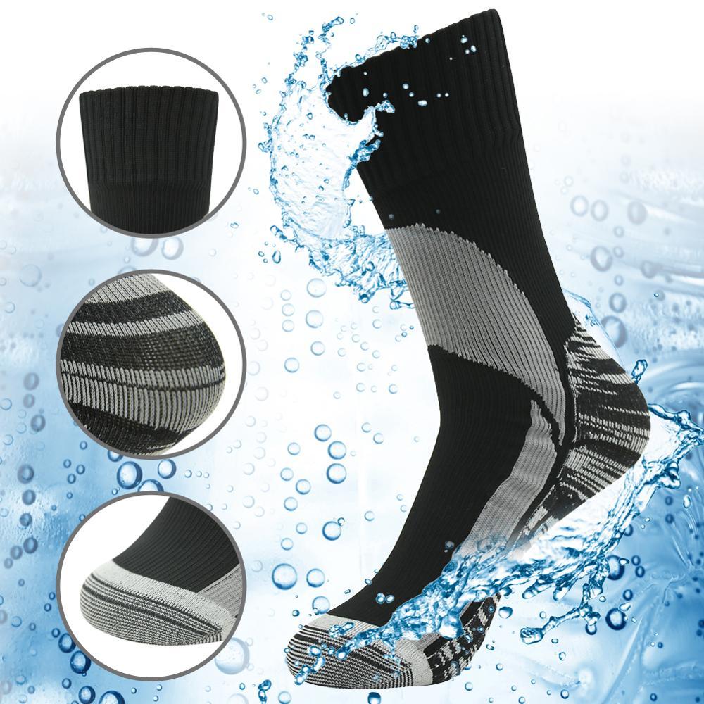 Calcetines impermeables para deportes al aire libre, transpirables, a prueba de viento, SGS, senderismo, Trekking, esquí, escalada, pesca, 1 o 2 pares