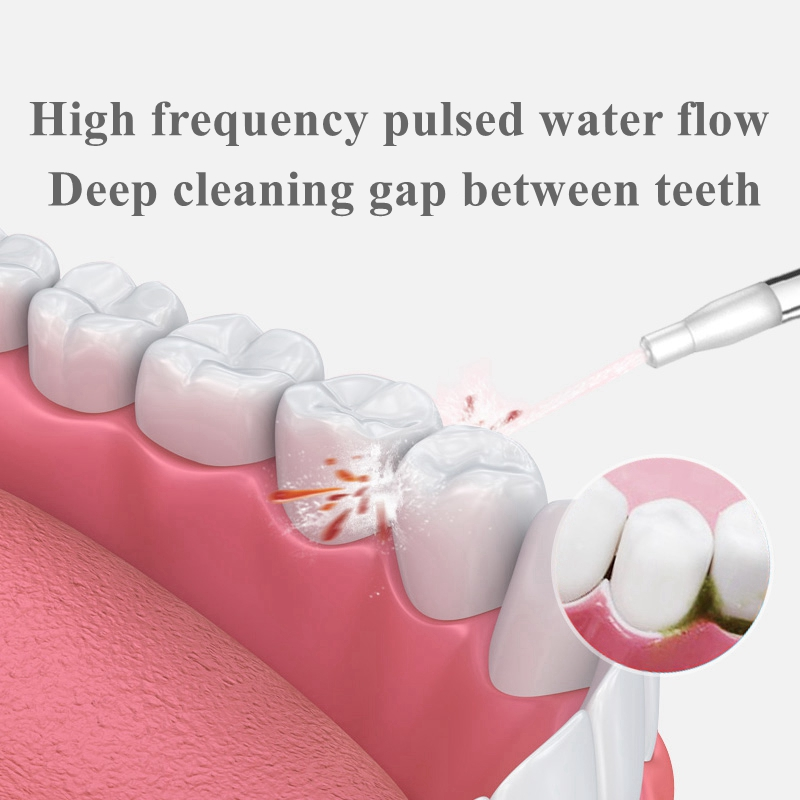 Oral Irrigator USB Rechargeable Water Flosser Portable Dental Water Jet Fashion Waterproof Teeth Cleaner water jet toothpick in Oral Irrigators from Home Appliances