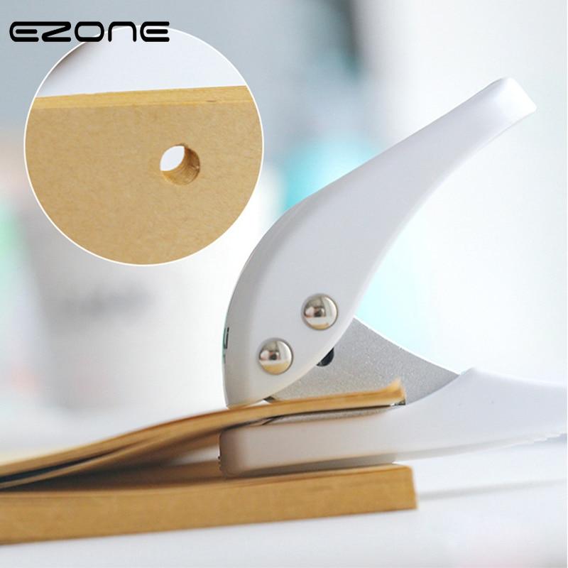 EZONE 1PC Paper Mini Punching Machine Creative Circular Hole Puncher Loose Leaf Paper-cut Punching Machine School Office Supply