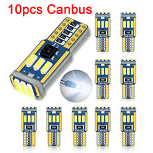 10pc T10 Led Canbus W5W Led Bulb Car Interior Light 9led 4014smd 194 168 No Error Reading Dome Light Instrument Plate Lamp 6000K
