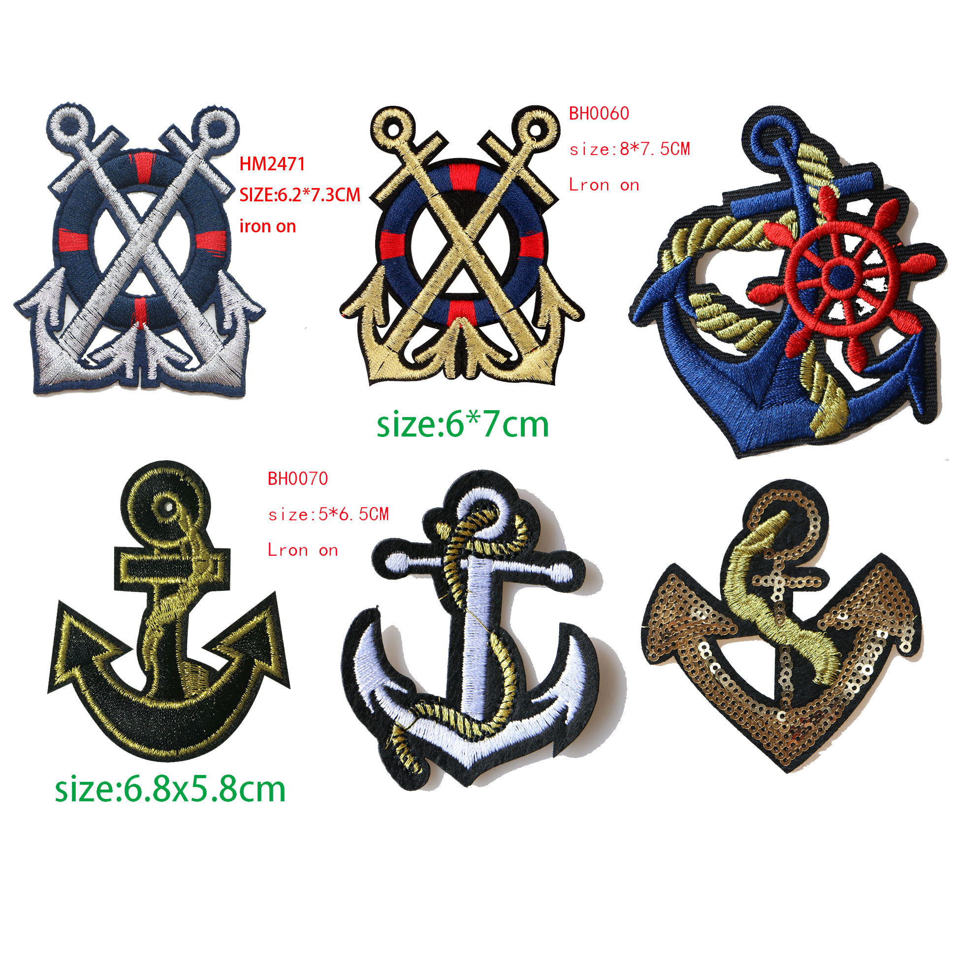 Large Crown Patch Badge Cartoon Sequin Iron On Sewing On For Clothes StickersS!