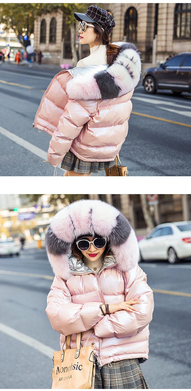 H9a621c74cdfe42c69af5f164bcd954ddB Natural Fox Fur Winter Jacket Women Gold Warm Parka Real Fur Down Coat Female White Duck Down Jacket Winter Waterproof Overcoat