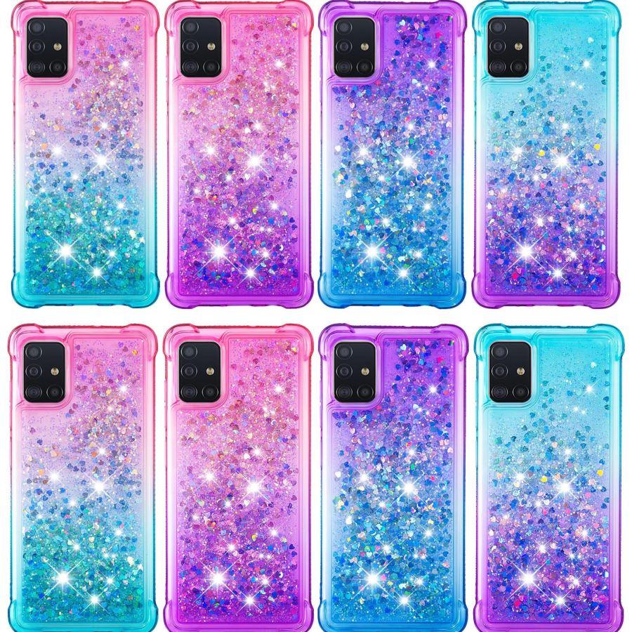 Woman Glitter Quicksand Case For LG Stylo 4 Stylo 5 Plus W10 W30 K40 Aristo 2 Plus Cute Sparkling Liquid Phone Back Cover D03E