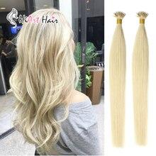 """HiArt 0,8 г/шт. волосы для наращивания на микро кольцах, натуральные человеческие волосы Remy Nano Ring для наращивания, нано-наращивание волос, прямые, 1"""" 20"""" 22"""""""