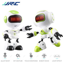 JJRC R8 Mini Smart Robot Kids Voiced Intelligent LED Eyes DIY Vector Robot Combat Robo Toy For Children Kids Gift Rc Robots Toys(China)
