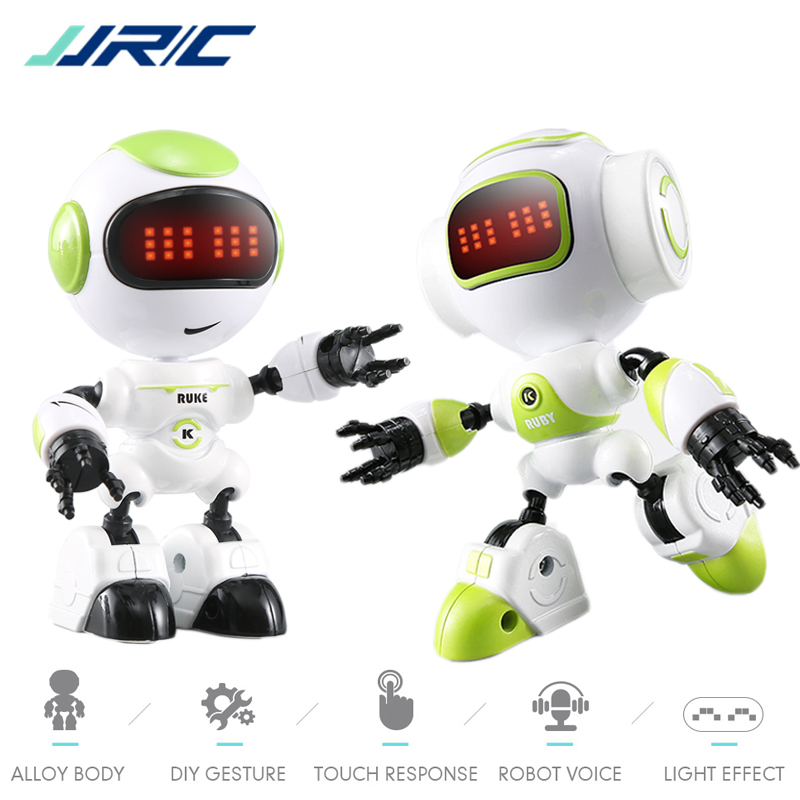 JJRC R8 Mini Smart Robot Kids Voiced Intelligent LED Eyes DIY Vector Robot Combat Robo Toy For Children Kids Gift Rc Robots Toys