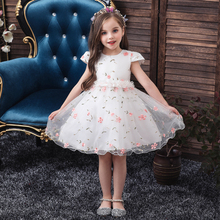 Vgiee Princess Dress for Girls Kids Party and Wedding Frocks Clothes Mesh Fall Floral Little Clothing CC599