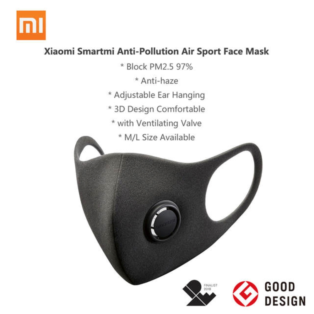 Xiaomi SmartMi PM2.5 Haze Mask Purely Anti-haze Face Mask Adjustable Ear Hanging Fashion 3D Design Light Breathing Mask