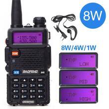 Baofeng UV-5R 8 Вт Высокая мощность 8 Вт мощная портативная рация дальность 10 км VHF/UHF Двухдиапазонная двухсторонняя радио pofung uv5r Охота