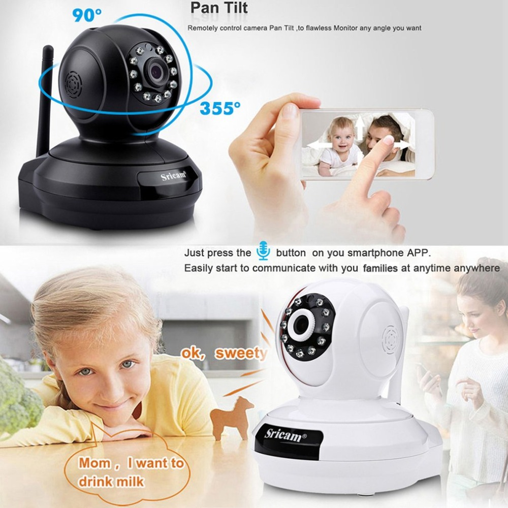 Sricam SP019 1080P Wireless Indoor IP Camera Baby Monitor Night Vision Support P2P CCTV WiFi Home Security