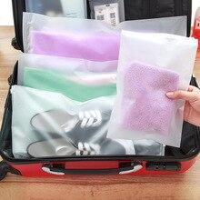 5PCS/Pack Plastic Travel Package Cloth Storage Baggage Bag Shoes Bag water-resistant Cloth Bag Zip Lock Storage Organizer Pouch краскопульт sturm sg 9660 b