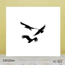 ZhuoAng Freedom of flight Transparent seal / sealed DIY scrapbook album decoration card seamless