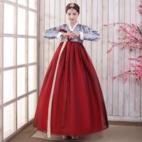 Women Korean Hanbok Dress Elegant Traditional Asian Nationality Palace Korea Fashion Style Hanbok Folk Stage Dance Costume